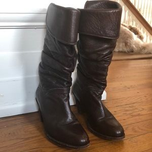 Frye leather slouchy boots